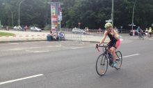 Gabi beim Berlin Triathlon